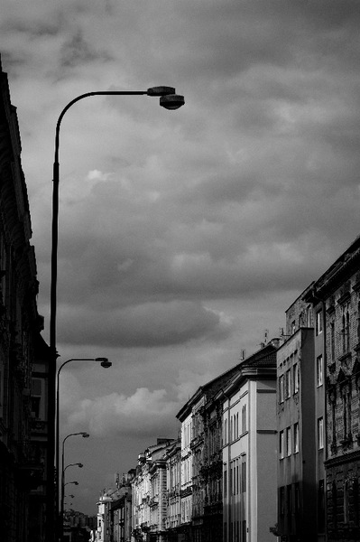 Plzen Czech Republic  street lights.