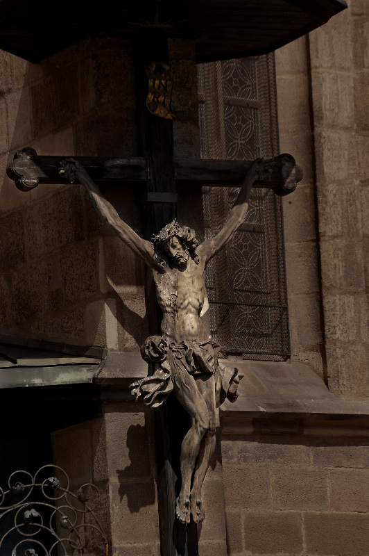 Plzen Czech Republic crucifix at St. Bartholomew's.