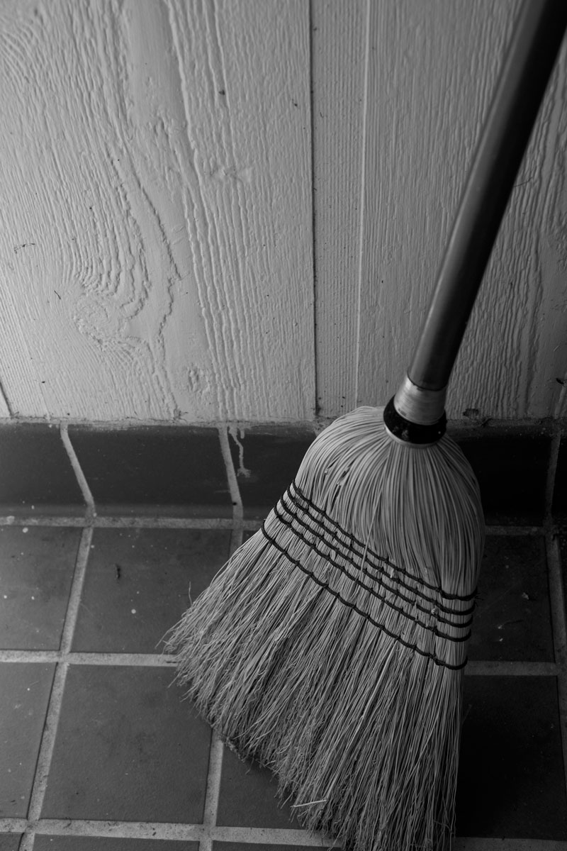 June 2, 2015:  Besides being much more effective than its nylon-bristle counterparts, this broom provides me...sound.  The aural affirmation that I am making progress with cleaning.  Use things that engage as many senses as possible.  Still...life.