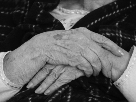 The beauty and stories of an old woman's hands.