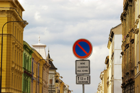 Plzen Czech Republic traffic sign.