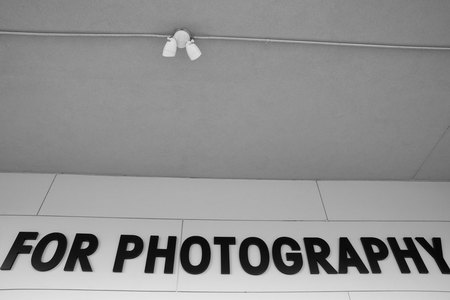 February 1, 2015:  These letters reside on the wall of the Houston Center For Photography, one of the places that I teach.  It is a place of magic for all who enter, whether they come to teach, learn or look.  Find your places of magic and go there often. Still...life.