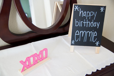 February 7, 2015:  The greeting to all who entered the fun of Emmie's first birthday party, along with hugs and kisses, and a reflection.  The first birthday of granddaughter number three was all that.  And more.  Still...life.