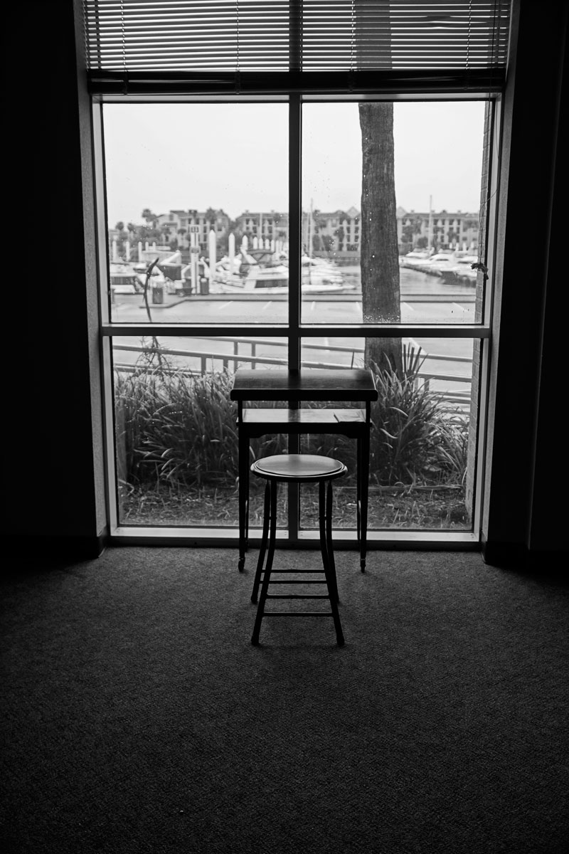 April 10, 2015:  Computers are fine, but sometimes inspiration needs a place and a view for writing with pen or pencil and paper...a writing table to write.  Much to express.  Still...life.