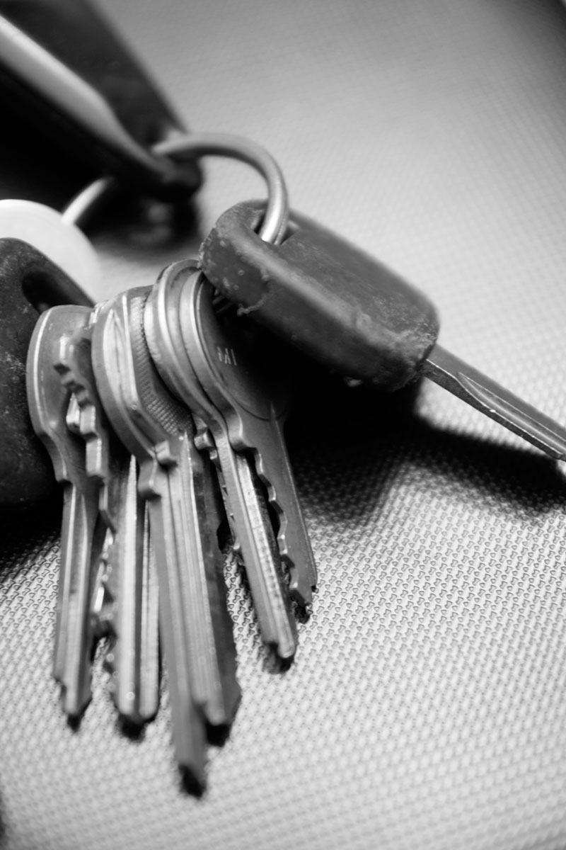 May 21, 2015:  It occurs to me as I look at this set of well-used keys, that we spend much of our lives looking for keys to unlock success, happiness, wealth, health, etc.  The keys to life don't come on a ring.  Still....life.