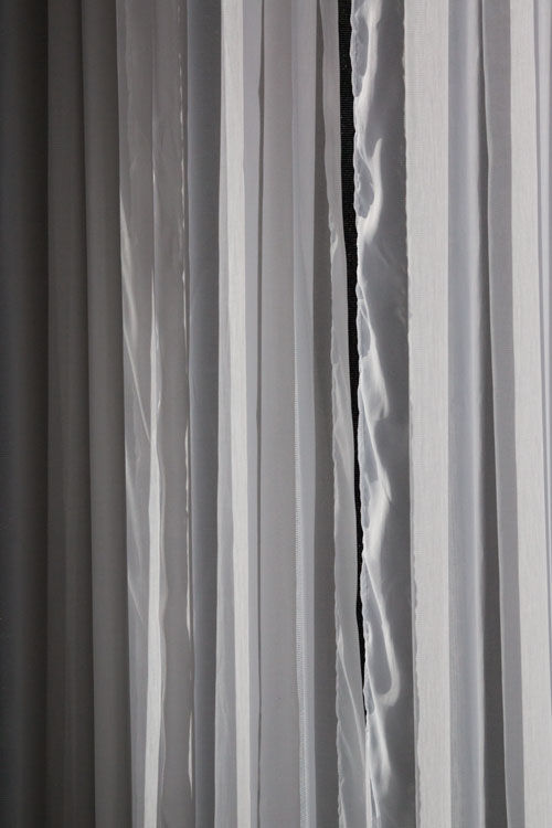 October 24   The textures of the sheer drapes create views that are almost unrecognizable in a beautiful way.