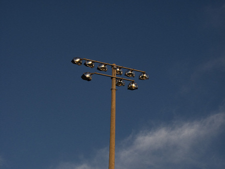 Athletic field light poles
