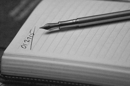 January 27, 2015:  Each day a fresh page; each page a siren's call to come hither.  Nothing can move the pen other than the one writing about the day that started as a blank page.  Still...life.