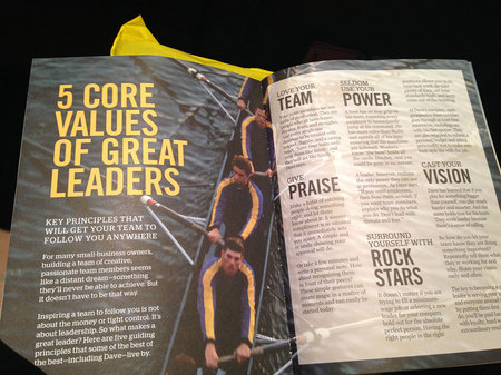 March 10, 2015:  This section of the program from Dave Ramsey's EntreLeadership program touched me.  I've never worked for an organization with a leader like this, but I believe in the concepts.  I tried to lead this way, but was not able to at all times.  But these set the bar and in this new career I can help others grow their teams because people matter.  I can share to help others live more fulfilled lives.  So much to do in Life, Phase III.  Still....life.