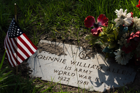 May 25   He is buried in a cemetery that was established in 1854. While he is known to some, he is an unknown soldier to most. All the veterans have new flags here, helping them each become a bit less unknown to the passersby and visitors to this one-acre cemetery.
