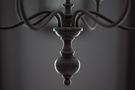 September 16 The graceful lines and form of the chandelier take on a new elegance, inspiring a pause to enjoy the sight.