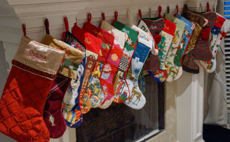 December 17   My family detailed in Christmas stockings. Beautiful.  And blessed.